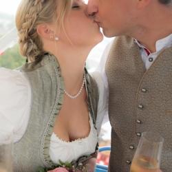 Hochzeitsfotografie Lebensbuidl Wiesn Riesenrad